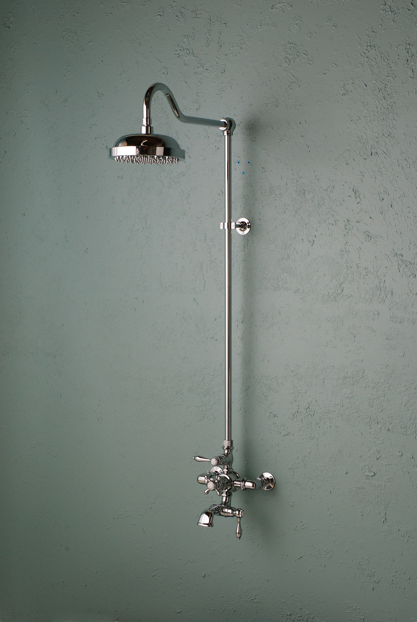 Exposed Thermostatic Shower Set With Spout