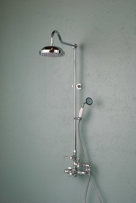 Thermostatic Shower Set with Handheld Shower in Chrome (P0902C)