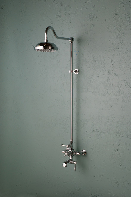 Thermostatic Shower Set with Spout in Chrome