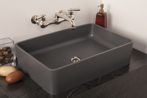 Matte Gray, with P0829N Wall Mount Faucet