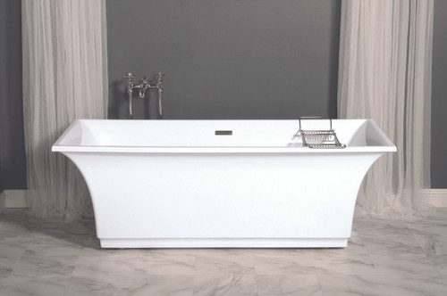 "The Elizabeth, 70"" Contemporary Rectangular Tub"
