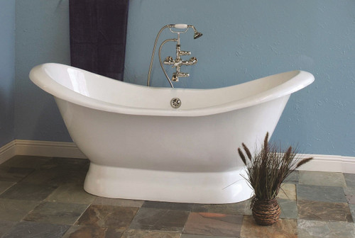 The Echo, 6' Double Ended Slipper Tub on Pedestal