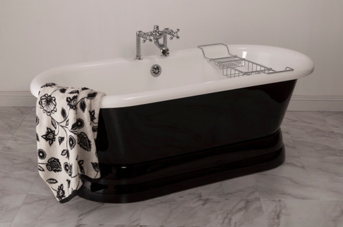 The Champlain, 5 1/2' Acrylic Dual End Tub on Pedestal