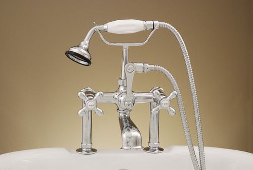 Deck Mount Tub Faucet with Hand Shower