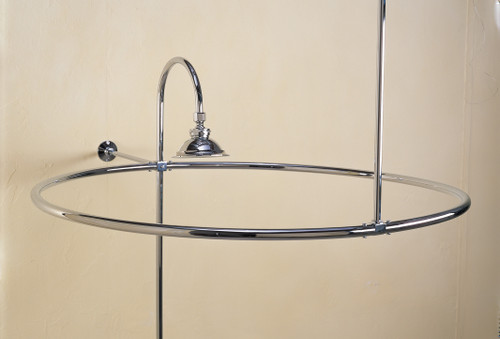 Pictured with shower head and riser in chrome (not included)