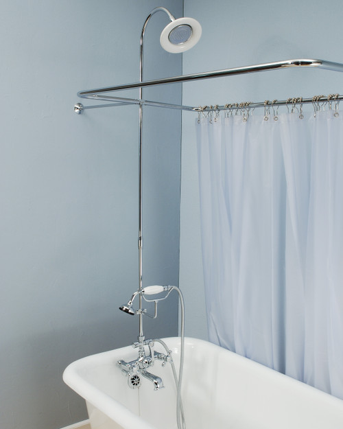 Shower Enclosure Set with Handheld Shower
