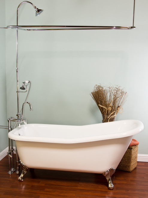 Over the Rim Shower Enclosure Set with Handheld Shower