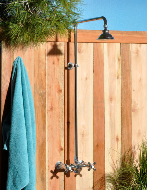 Exposed Outdoor Shower Set