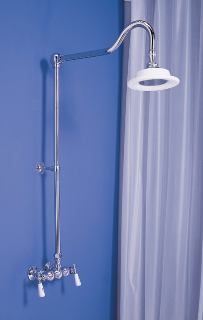 """P0678 Exposed Shower Set with 3 3/8"""" Centers"""