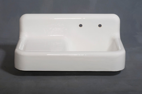The Whitney, 4'' Cast Iron Farmhouse Single Drainboard Sink