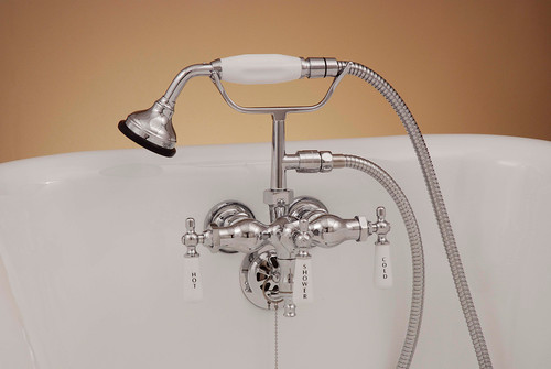 P0154 Leg Tub Faucet with Handheld Shower