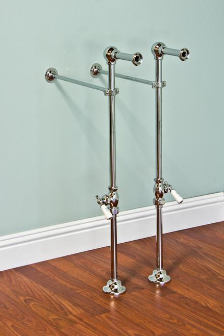 P0641 Free Standing Leg Tub Supply Set with Shutoffs