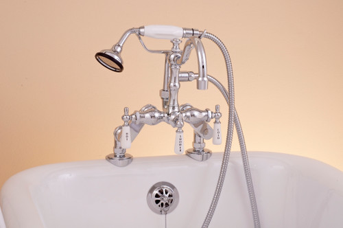 P1054 Deck Mount Faucet with Handheld Shower