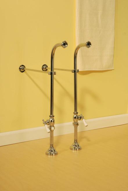 P0398 Free Standing Leg Tub Supply Set w/ Shutoffs