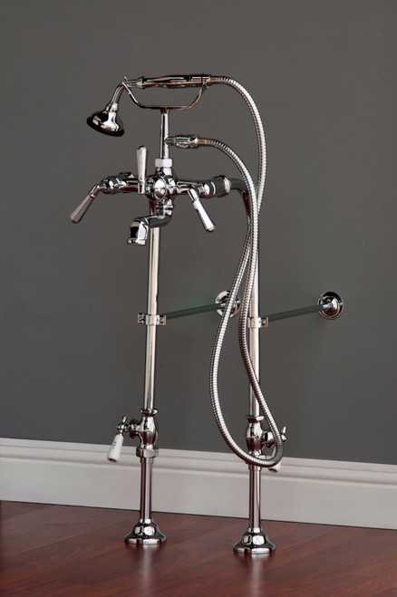 P1081 Deco Telephone Faucet and Freestanding Supply Lines Kit
