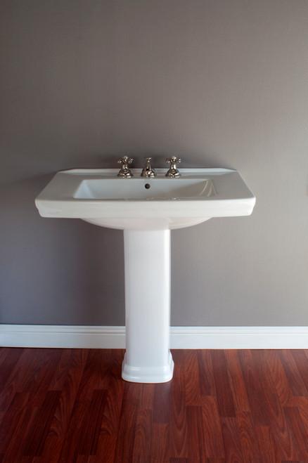 P1120 Porcelain Modern Style Pedestal Sink