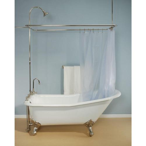 P0729 Deck Mount Shower Enclosure Set