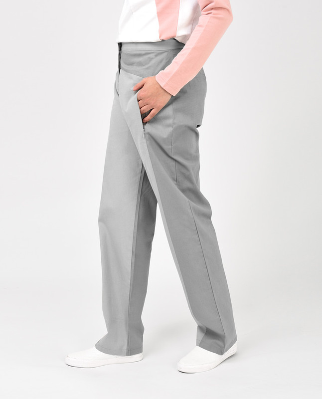 Light Grey Straight Leg Trousers