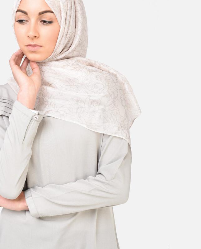 Midsummer Night's Cream Silk Hijab