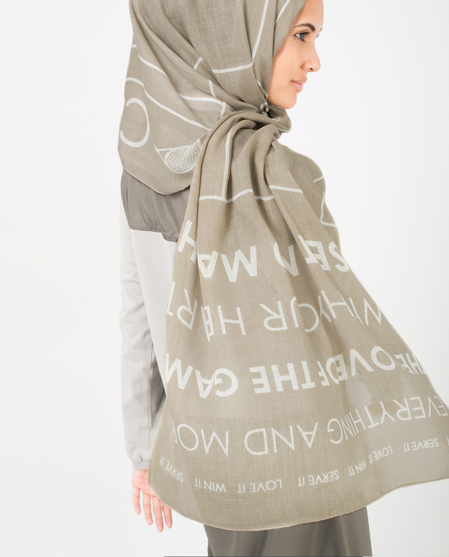 Zinc and White Hijab