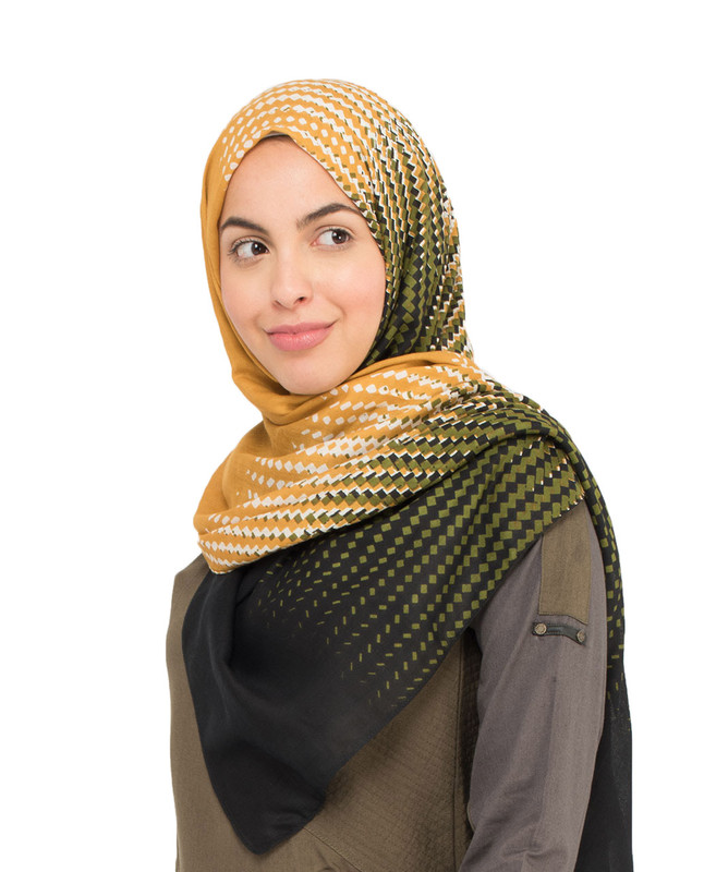Olive and Honey Yellow Hijab