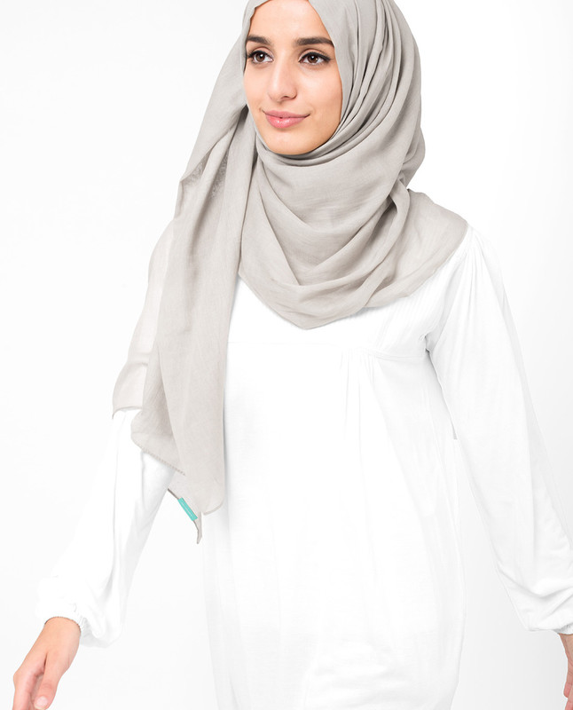 Chateau Gray Voile Hijab