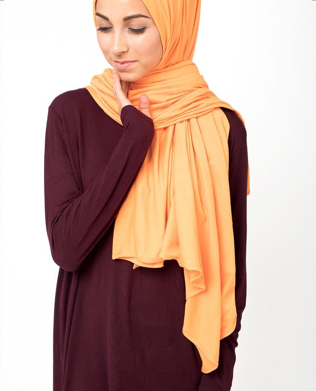 Muskmelon Jersey Hijab