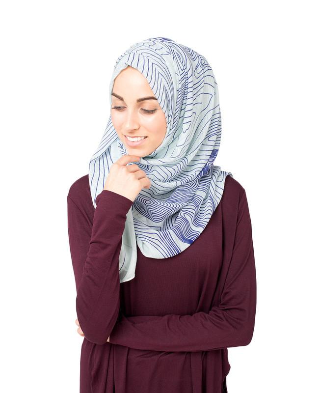 Gardenia Blue Hijab