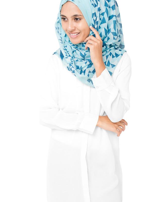 White Plume Hijab