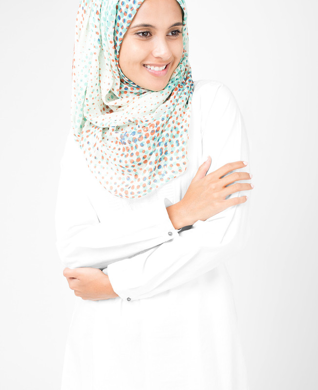 Flamingo White Hijab