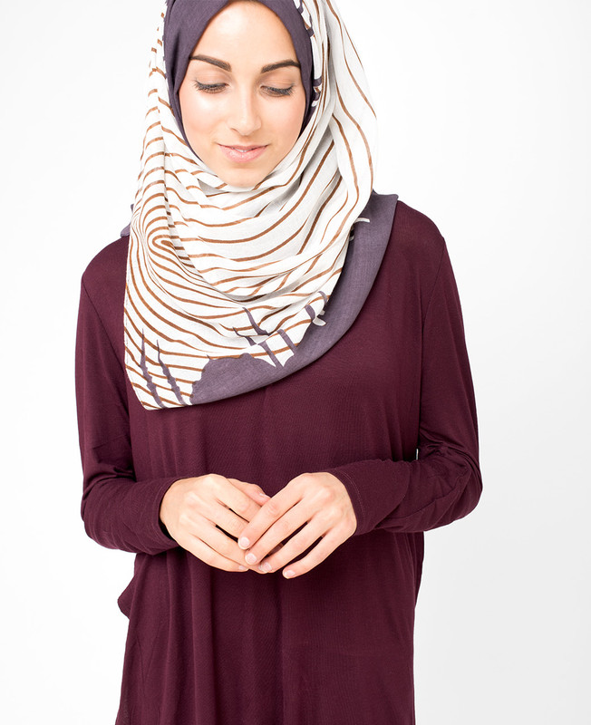 Peppercorn Grey Hijab