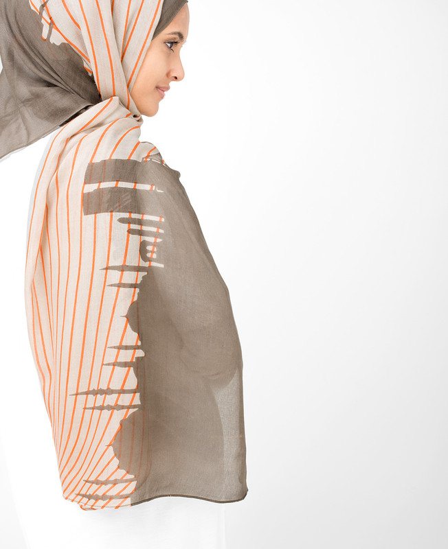 String Pine Bark Hijab