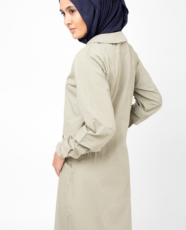 Silk Route Jilbab Beige Modest Long Dress