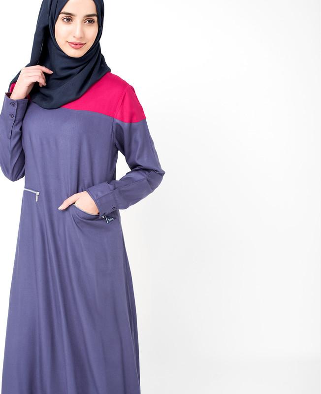 Colour Block Jilbab