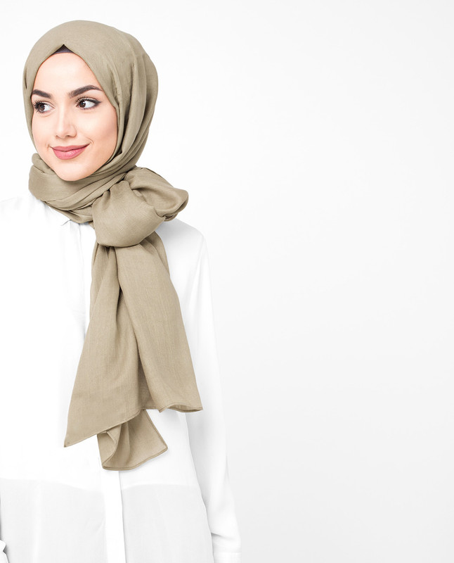Noughat Beige Viscose Hijab