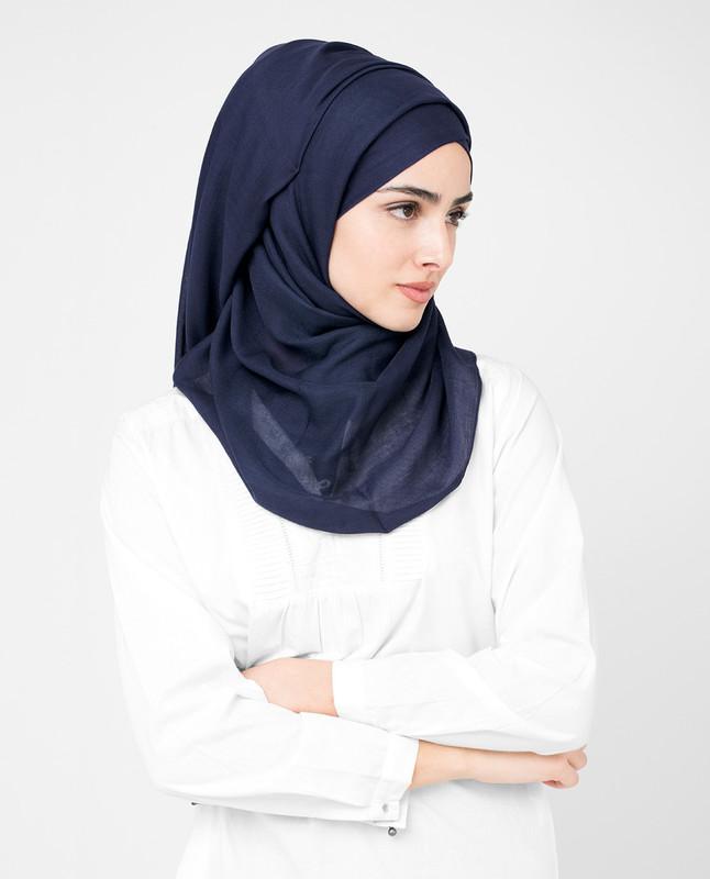 Peacoat Blue Viscose Hijab