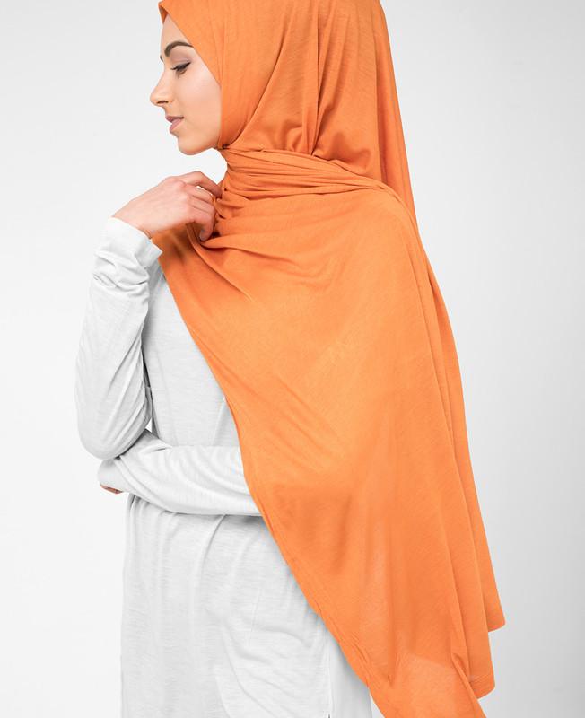 Orange Ochre Viscose Jersey Hijab