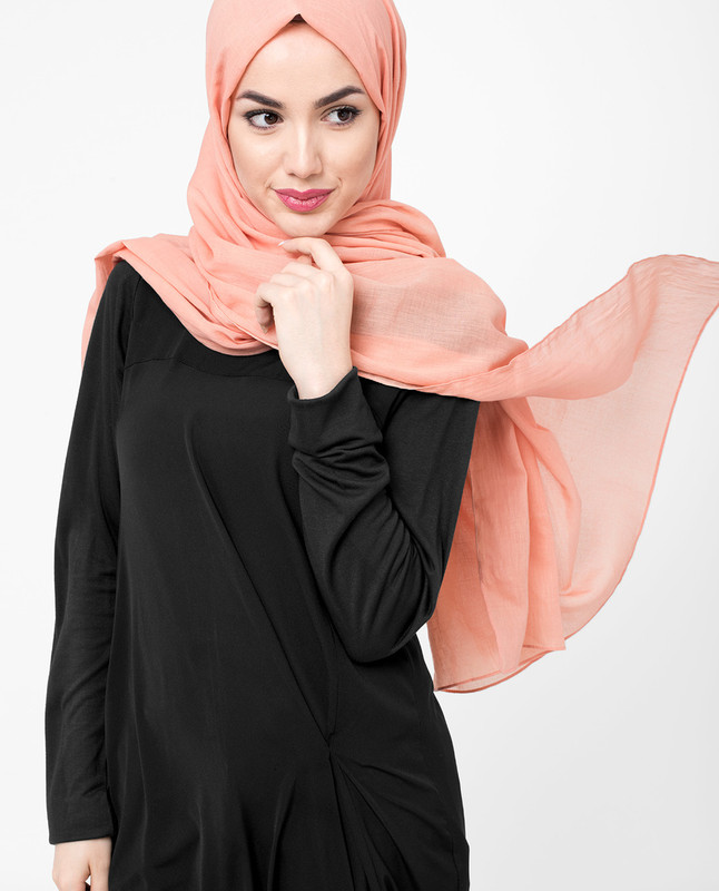 Tawny Orange Cotton Voile Hijab