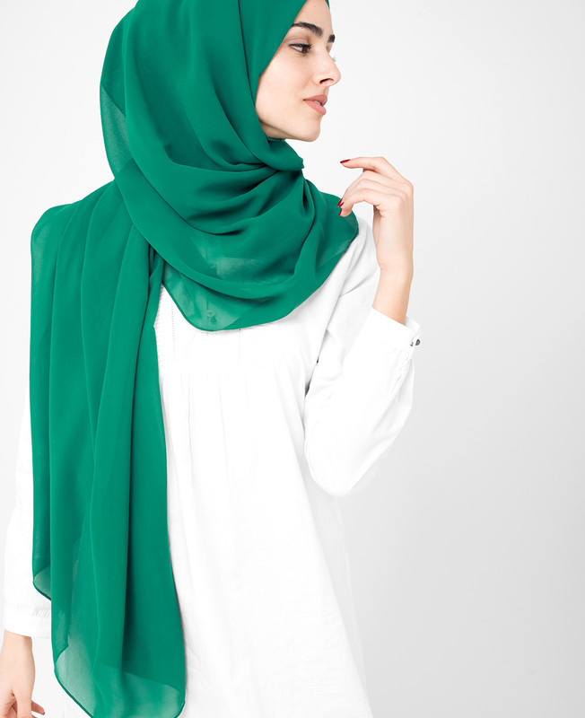 Everglade Green Poly Georgette Hijab