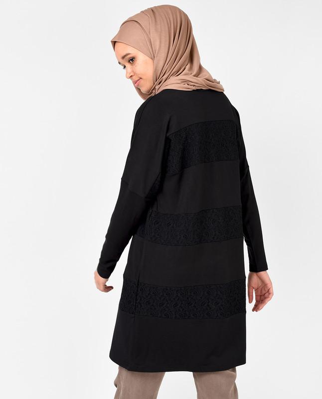 Black Lace Detail Top