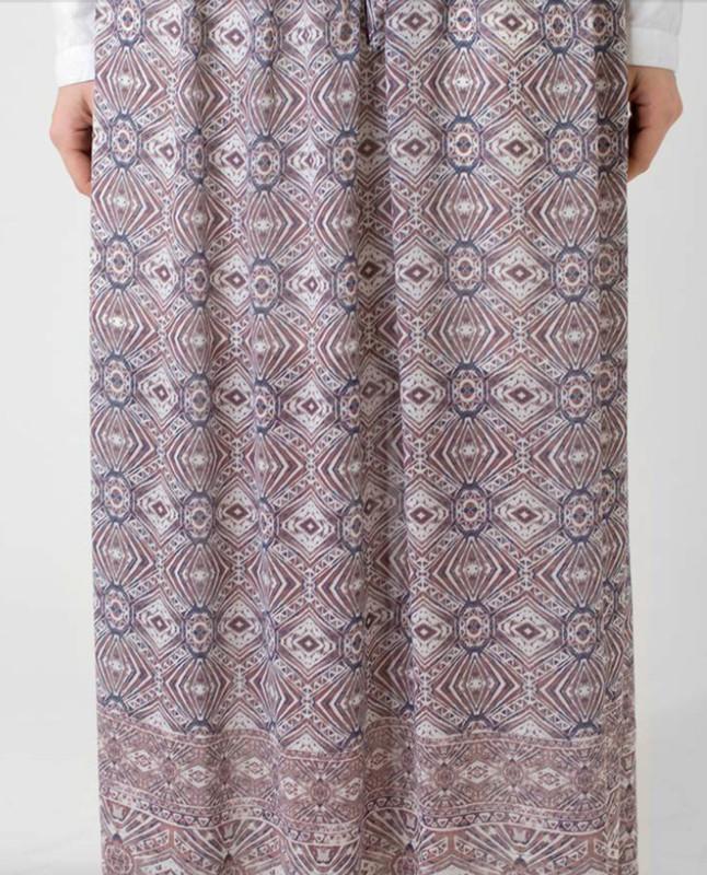 Printed Elasticated Waist Maxi Skirt