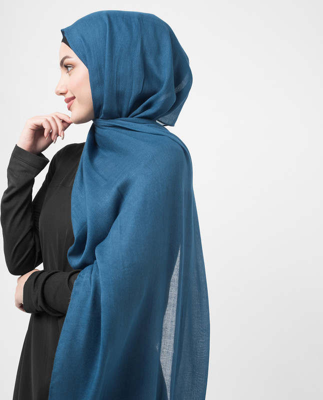 Real Teal Viscose Hijab