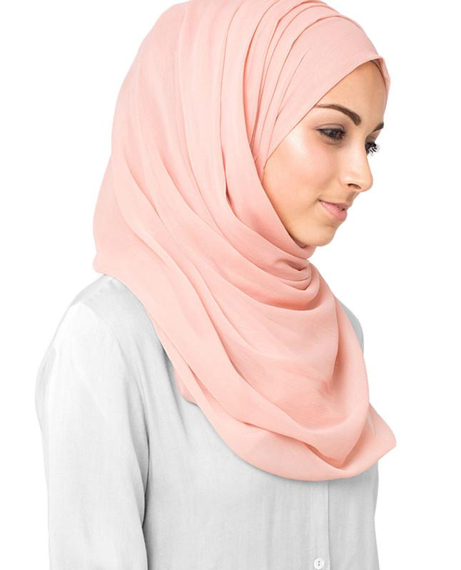 Cameo Rose Polychiffon Hijab