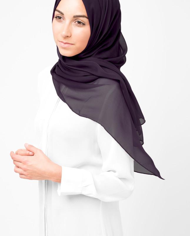 Shale Polychiffon Hijab