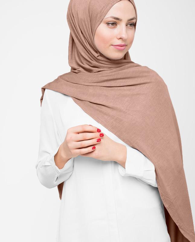 Macaroon Grey Viscose Jersey Hijab