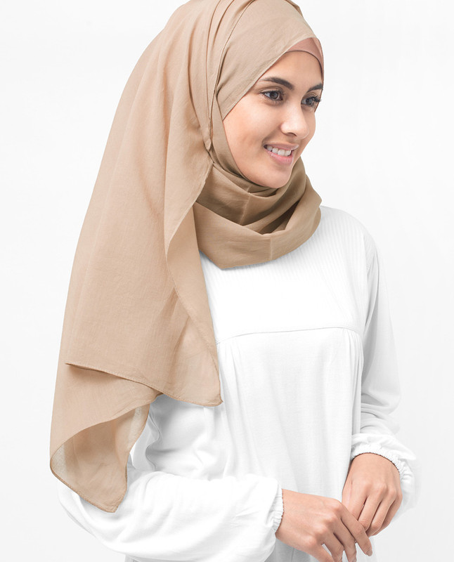 Almondine Cotton Voile Hijab