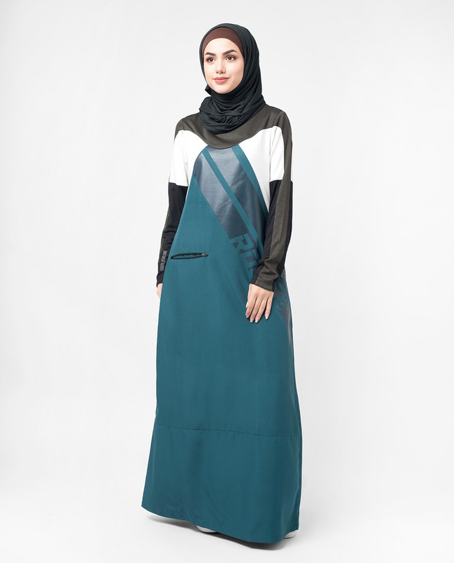 Sports Performance Blue and Grey Jilbab