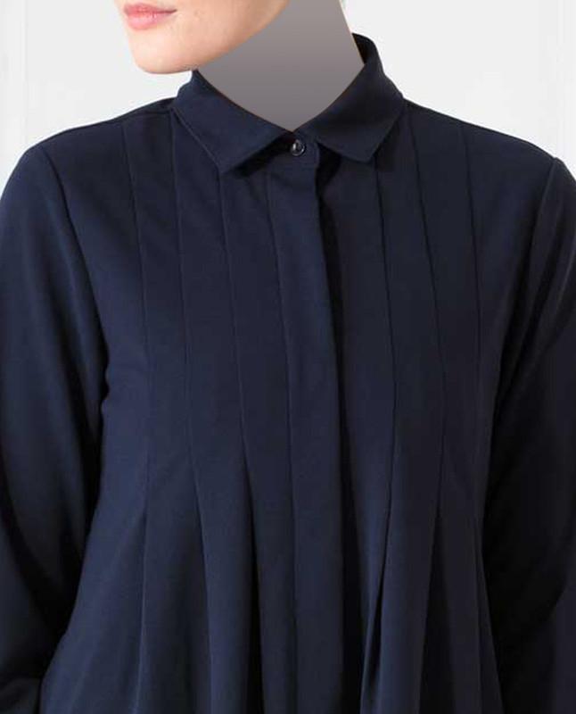 Hariet Navy Shirt Dress