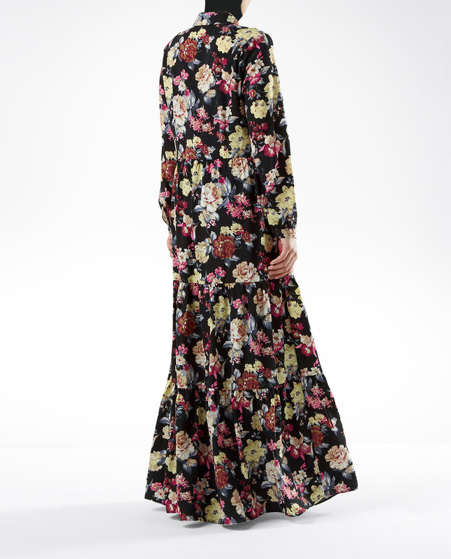 Maria Navy Floral Dress