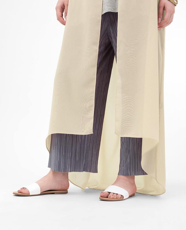 Long Sheer Fog Cream Kimono